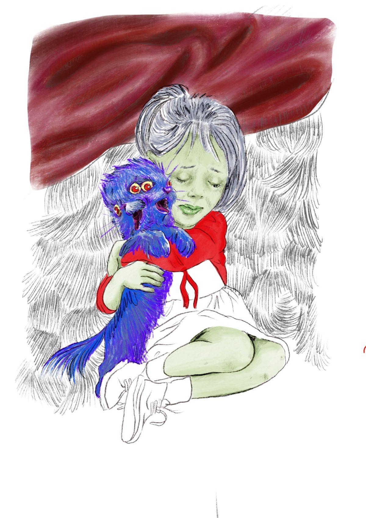 Ansiedad dessin numérique illustration Cécile Alvarez