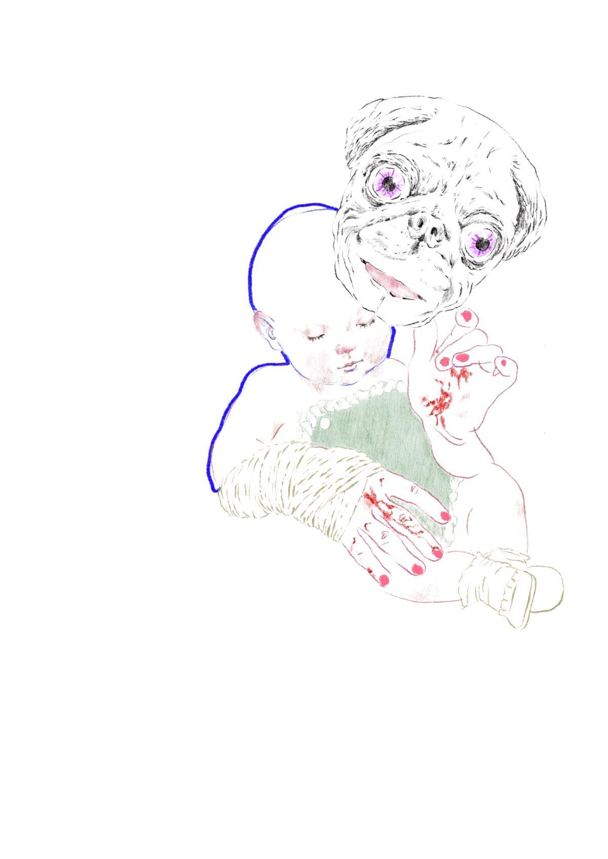 Petits à petites dessin numérique illustration Cécile Alvarez