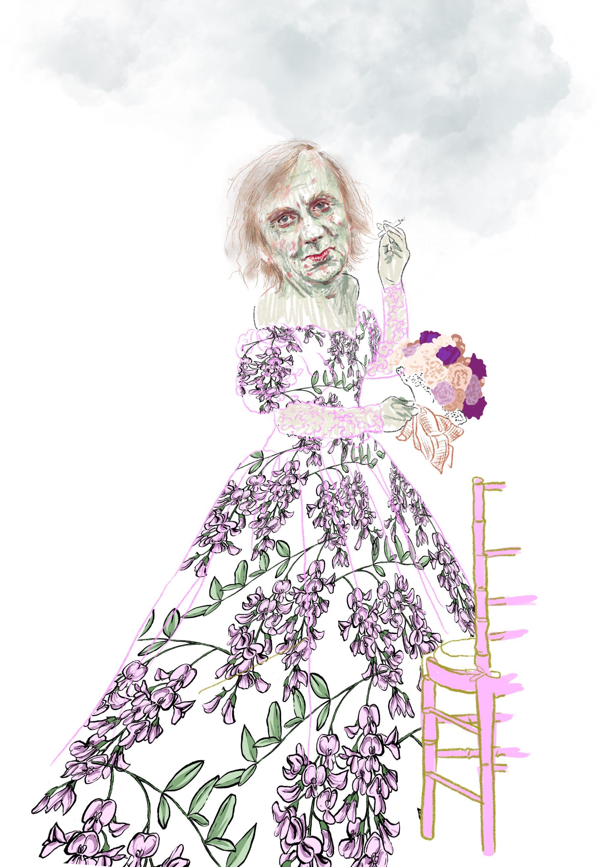 Les épousées dessin numérique illustration Cécile Alvarez